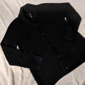 H&M Black Button Cardigan Sweater